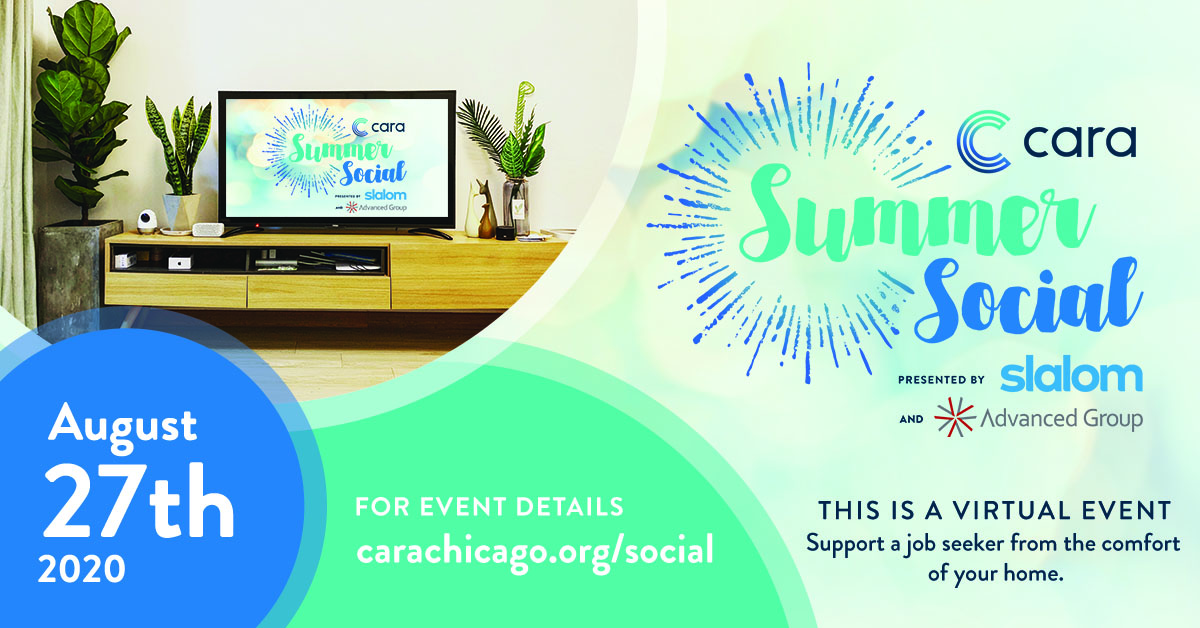 Flyer for donating interview attire to Cara Chicago